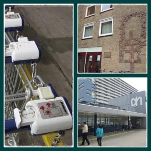 kiri : trolley kanan bawah : supermarket kanan atas : gereja