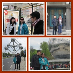 atas : with friends - bawah : atomium
