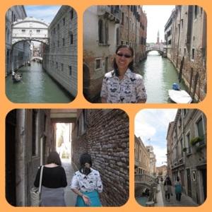 Gang dan kanal yang sempit di Venice