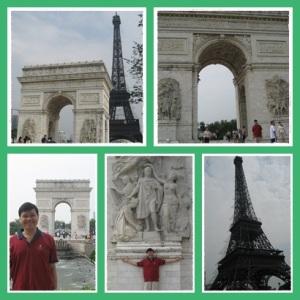 Kapan lagi Eiffel dan Arc de Triumph dalam satu frame ?