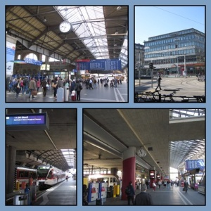Train Station Zurich (atas) & Lucerne (bawah)