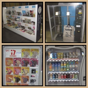 Information counter + vending machine