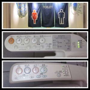 Toilet dengan berbagai tombol kloset