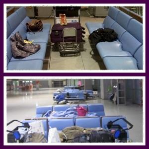 Kursi yang langsung berubah menjadi kavling tidur di tengah malam