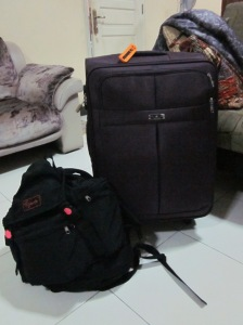 Our luggage + backpack