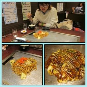Sobayaki + Okonomiyaki