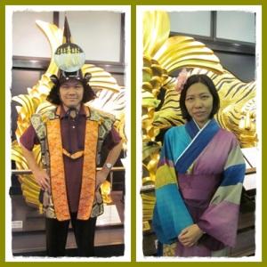 Sang Samurai yang gagah bertemu putri yang manis :)