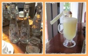 Botol aqua di kamar & juice salak di kafe canari