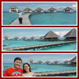 Beautiful water villa in Maldives !