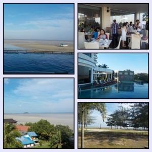 View hotel pagi hari. Kanan bawah : Ancolnya Belitung