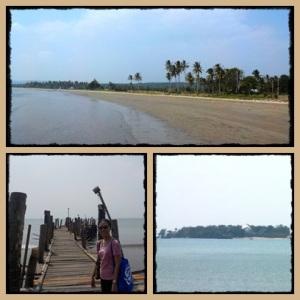 pantai di Sumur, sebrang pulau Umang