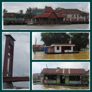 Seperti banjir di Jakarta yah, hehe.. padahal ini di tengah sungai Musi