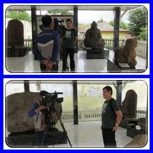 Diwawancara oleh TV lokal Pelembang, Sriwijaya TV.