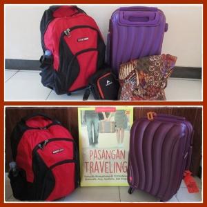 1 ransel + 1 koper kabin utk trip kali ini