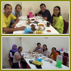 CS Rusia dan CS India yang kami bawa ke resto Padang