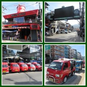 Bangla Road pagi hari dengan tuk tuk khas Phuket
